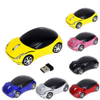 Mini Car 2.4GHz 1200DPI Wireless Optical Mouse USB Scroll Mice for Tablet Laptop