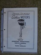 Scott Atwater 1 -20 Deluxe Twin 483 Outboard Owner Manual Parts Catalog  U