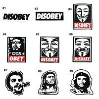 Disobey Emblem Che guevara v for vendetta Retro Rock DIY Clothing Iron on patch