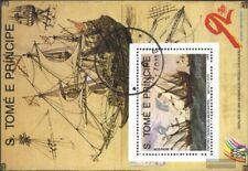 Sao Tome e príncipe Bloque 206 (edición completa) usado 1989 navegación