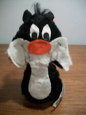 VINTAGE AND RARE 1975 WARNER BROS SYLVESTER THE CAT RUSS BERRIE SAND PLUSH