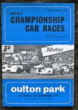 Oulton Park BARC championshp AUTO programma 24 settembre 1977