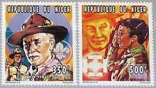 NIGER 1996 1203-04 867-68 Boy Scouts Pfadfinder Baden Powell 55th Death Ann MNH