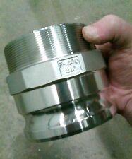 """4"""" 100mm Type F - Heavy Duty Stainless Steel - Male Camlock x Male BSP"""