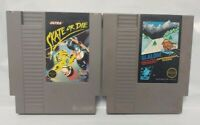 Slalom + Skate or Die Skateboarding -  Nintendo NES Authentic Game Tested Works