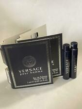 2X Versace Pour Homme Eau De Toilette EDT Vial Sample 1ml /0.03 oz