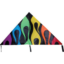 Kite Rainbow Flames X-Delta Single Line Kite with Winder & String PR 33306