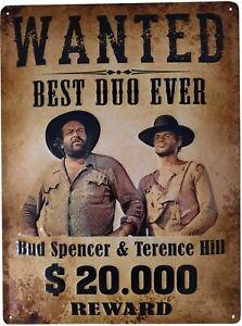 Blechschild 30x40 Bud Spencer Terence Hill Wanted offiziell lizensiertes Produkt