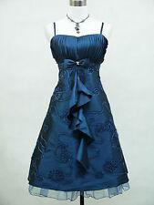 Cherlone Plus Size Blue Prom Ball Evening Bridesmaid Knee Length Dress 20-22