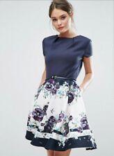 TED BAKER STEFH FLORAL FIT & FLARE  DRESS sz 4(US 10) RT $279.00