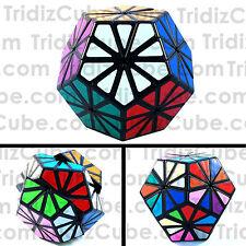 QJ Pyraminx Crystal Dodecahedron Black Puzzle Cube Deep-Cut Megaminx - US Sell