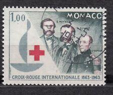 TIMBRE MONACO OBL N° 608   CROIX ROUGE CROISSANT ET LION ROUGES