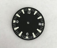 White SM w/date Seamaster 300 Style Dial for Seiko 7S26 Movement 28.5mm