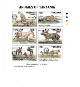 Tanzania 1996 - Wildlife - Boy Scout Overprint - Sheet of 6 Stamps - MNH