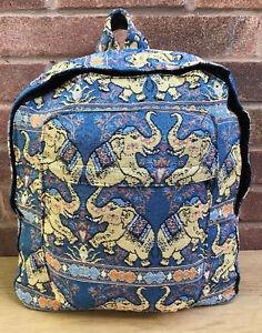 Boys Girls Shoulder Cotton Backpack Elephant School Travel Outdoor College Bag