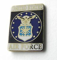 US AIR FORCE USAF RECTANGLE LAPEL PIN BADGE 1 INCH UNITED STATES