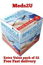 Spectacle Lens Wipes Extra Value Pack of 52 Wipes Glasses Sunglasses Cleaner