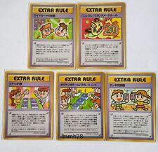 POKEMON JAPANESE EXTRA RULE COMPLETE 5 CARD SET (VENDING SERIES 3) Ultra Rare!