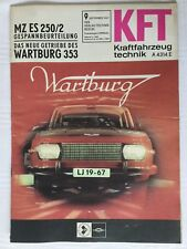 Kraftfahrzeugtechnik KFT 09/1967 Wartburg MZ Gespann Selten DDR Geschenk Ostern