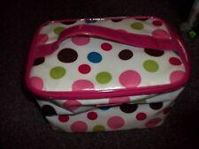 multi color polka dot travel make up bag great condition plastic soft bag