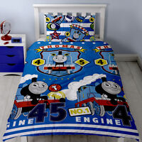 Thomas The Tank Engine Patch Reversible Single Duvet Set Bedroom Bedding New Boy