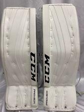 """Ccm Premier Pro Goalie Leg Pads Size Sr 34"""" White New w/Tags Orig $1799.99"""