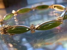 Jade Echtschmuck aus Weißgold für Damen
