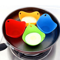 4pcs Egg Poacher Cook Poach Pod Cookware Poached Baking Cup Kitchen Tools New