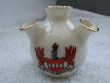 VINTAGE CORONET CHINA  MODEL OF A FOUR STEM VASE  CRESTED SERCQ  [SARK]