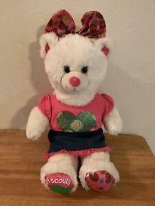 """Build a Bear Girl Scout White Plush 16"""" Dressed with Skirt & Thin Mints Shirt 🌸"""