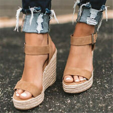 Summer High Wedges Heel Sandals Open Toe Platform Shoes For Women Sandal Shoes@