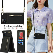 Women Leather Stand Case Zipper Wallet Cover For Samsung S21 S20 S10 Note20 10 9