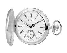 Full Hunter Pocket Watch Sterling Silver Polished Woodford 1001