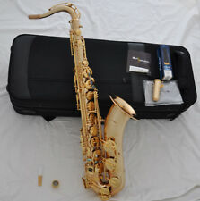 Hand hammered Gold Tenor saxophone professional sax Abalone shell key new case