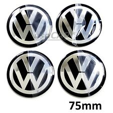 VW 75mm Wheel Center Hub Cap Decals Emblem STICKERS VOLKSWAGEN CENTER CAPS 3""
