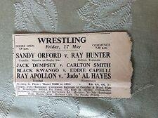 a2i ephemera 1950s margate wrestling apollon al hayes capelli eddie ray hunter