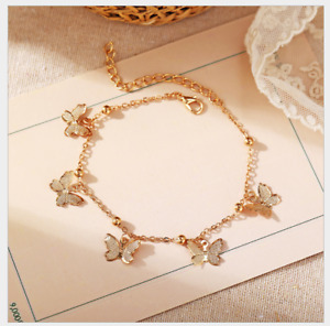 New beach foot decoration hollow butterfly pendant handmade anklet Brand New