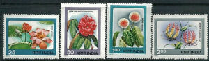 INDIA 1977 Flowers Set of 4 MNH