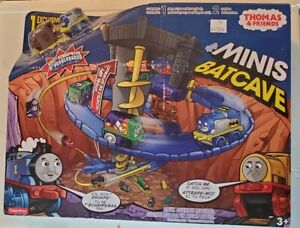 Fisher-Price Thomas the Train Minis DC Super Friends Batcave Set NEW Free Ship