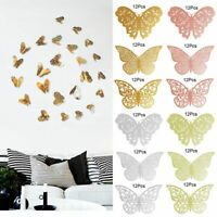 12 Pcs 3D Butterfly Wall Stickers Decal Removable Mural Home Room Nursery Decor