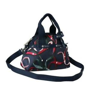 LeSportsac Classic Collection Bow Mini York Satchel in Ribbons Navy NWT