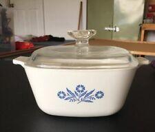 Corelle Baking Dish  W/ Lid- Cornflower Pattern