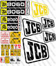 JCB 8060  MINI DIGGER COMPLETE CHROME DECAL SET WITH SAFTY WARNING