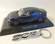 Peugeot 508 - 2018, blau-Met. incl. Schlüsselanhänger, NOREV, 1:43