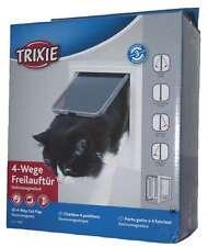 Trixie 3869 4-way Porta Unidirezionale, Elettromagnetica, Bianco