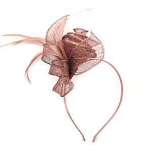 Coiled Headband Aliceband Hat Fascinator Weddings Ladies Day Race Royal Ascot