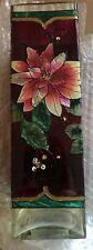 Joan Baker Designs Hand Painted Victorian Noel Decorative Floral Square Vase