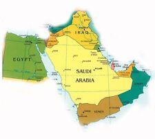 GPS Map for Middle East, Egypt, Saudi Arabia, Yemen, Oman UAE, Jordan, Iraq 2017