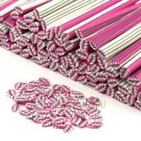 3x hecho a mano rosa hoja Bastones - Arte Uñas (cnc05)