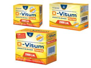 D-Vitum FORTE Vitamin D 2000 IU 36 - 60 -120 CAPSULES